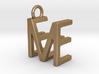 Two way letter pendant - EM ME 3d printed