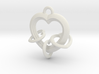 3 Hearts Linked in Love 3d printed