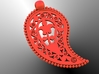 Byzantine Leaf Pendant 3d printed Back view