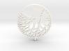 Circle of Tree Earrings 3d printed