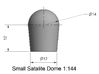 Small Satellite Dome 1/144 3d printed