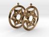 Umayyad Heart Flower Earrings 3d printed