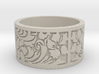 Floral ss Ring Size 8 3d printed