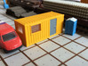 N Scale 20 Ft Office Container 3d printed Office container in White Strong&Flexible. Windows are made from clear plastic.