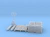 Pallet jack 01.HO Scale (1:87) 3d printed