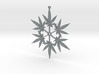 Snowflake Cannabis Ornament 3d printed