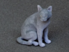 Sitting Gray Chartreux 3d printed