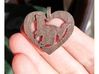 Ferret love heart (small) 3d printed