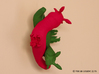 Yana the Nudibranch 3d printed Pink and Green Strong & Flexible Polished