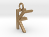 Two way letter pendant - FK KF 3d printed