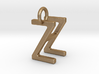 Two way letter pendant - HZ ZH 3d printed