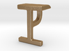 Two way letter pendant - IP PI 3d printed