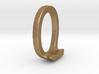 Two way letter pendant - JO OJ 3d printed