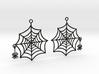 Swinging Spider Web Earrings 3d printed