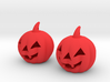 Halloween Pumpkin earrings (set - 2pcs) 3d printed