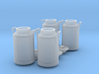 Scale 1/35 milk can - set of 4 3d printed set of 4 milk can scale 1/35