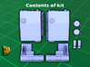 IDF M2 External Fueltanks (1:35) (2x) 3d printed IDF M2 external fueltanks - parts