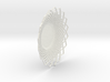 Giant Flower Spiral Center Dish2 - OpenSCAD Model 3d printed