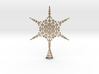 Sparkle Snow Star - Fractal Tree Top - MP3 - M 3d printed