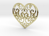 Christmas Heart Ornament 3d printed
