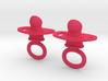 Pacifier Earrings 3d printed
