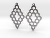 Diamond Shaped Shaped Earrings 3d printed