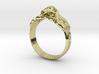 Antique inspired Skull Ring 3d printed