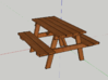 8 HO Picnic Table 3d printed what it looks like rended