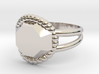 Size 6 Diamond Ring A 3d printed