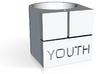 YOUTH Brick Ring - Sz. 7 3d printed