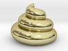 18K Gold Plated - Archimedean Turd 3d printed