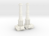 TURBOLASER TOWER CANNONS 1/72 Plastic  3d printed