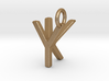 Two way letter pendant - KY YK 3d printed
