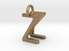 Two way letter pendant - KZ ZK 3d printed