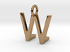 Two way letter pendant - LW WL 3d printed