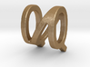 Two way letter pendant - NQ QN 3d printed