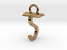 Two way letter pendant - ST TS 3d printed