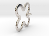 Tilted Horseshoe with luck 3d printed