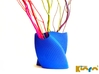"""wave vase """"Touch"""" 3d printed Royal Blue Strong & Flexible Polished"""