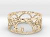 Golden Spiral Ring Size 7 (6 normal spirals) 3d printed