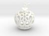 Apple Heart Ornament 3d printed