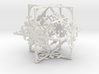 Snowflake Cube (Christmas Tree bauble?) 3d printed