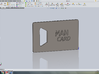 Man Card 3d printed