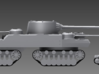 1/100 JN-129 Hull and Rear Tracks 3d printed A JN-129 and a KV-2.  The JN-129 is one of the largest tanks ever concieved of, but although only one third the size of the P-1000 landkreuzer, its main armament is comparable.