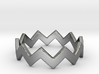 Zig Zag Wave Stackable Ring Size 5 3d printed