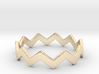 Zig Zag Wave Stackable Ring Size 9 3d printed