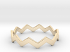 Zig Zag Wave Stackable Ring Size 13 3d printed