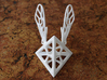 Tetra-Wasp 3d printed White Strong & Flexible Polished