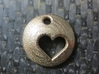 Pluto's Heart Pendant 3d printed Pluto's Heart in Stainless Steel