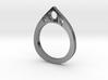 Teardrop Ring 3d printed